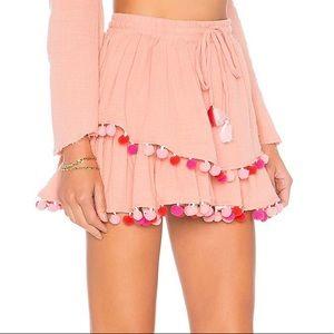 Majorelle pink Pom Pom calypso skirt